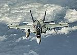 FA-18E Super Hornet of VFA-115 in flight over the Bismarck Sea in March 2016.JPG