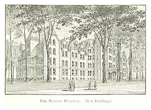 Harper University Hospital - Image: FARMER(1884) Detroit, p 711 HARPER HOSPITAL, NEW BUILDING