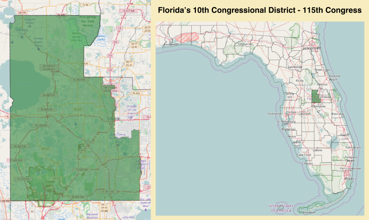 Floridas Th Congressional District Wikipedia - Map of florida us house district 16