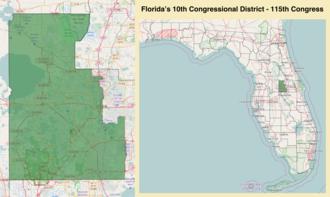 Florida's 10th congressional district - Florida's 10th congressional district - since January 3, 2017