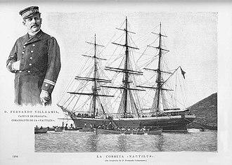 Fernando Villaamil - Fernando Villaamil and the Nautilus, 1894