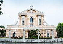 Facade of San Vicente Ferrer Church in Leganes, Iloilo.jpg