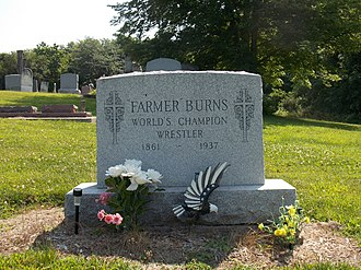 Martin Burns - Farmer Burns grave in St. James Cemetery