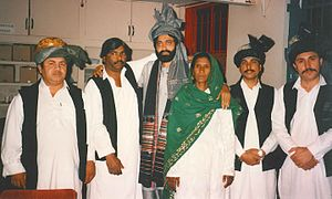 Fazal Malik Akif - Image: Fazal Malik Akif & Zarsanga with their band in March 1991 at Hackney Empire in London