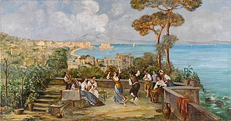 Tarantella - Italians in Naples dance the tarantella