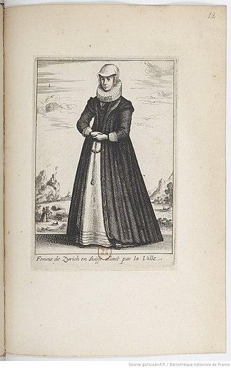 Wenceslaus Hollar - Image: Femme de Zurich en Suiffe allant par la ville