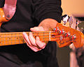 Fender Precision Bass played by Stephen Desaulniers 2, Ray Mason Band, 2010-12-31.jpg