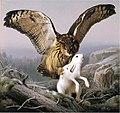 Ferdinand von Wright, Huuhkaja hyökkää jäniksen kimppuun.jpg