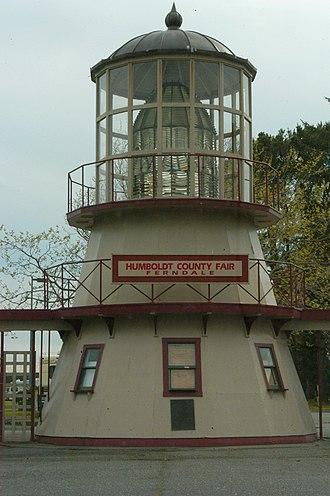 Cape Mendocino Light - Image: Ferndale CA Cape Mendocino Fresnel Lens