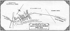 Neuquén-Cipolletti bridges - Image: Ferrocarril Sud, Neuquén Expansion 1899