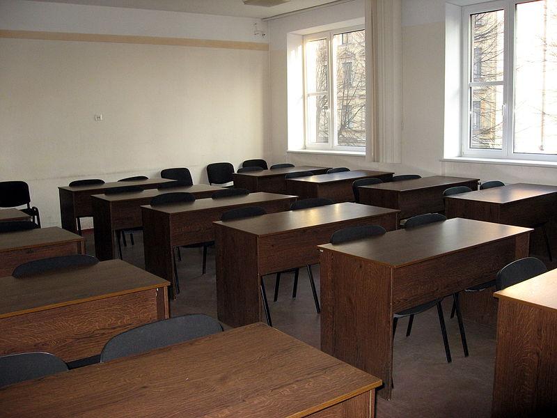 File:Filologická fakulta a Fakulta moderních jazyků Lotyšské univerzity, učebna.jpg