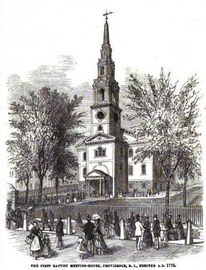 First Baptist Church in America - Image: First Baptist Church in America in RI