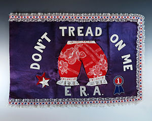 "National Woman's Party - First Lady Betty Ford's ""Bloomer Flag"""