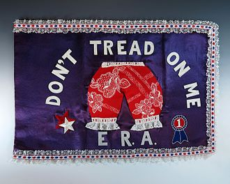 Betty Ford - A handmade flag given to Betty Ford that demonstrates her support for the Equal Rights Amendment