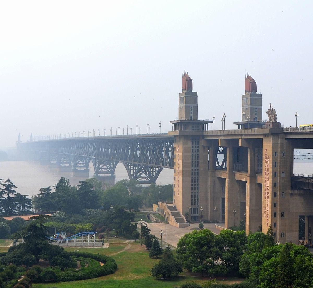 Grand pont de nankin sur le yangts wikip dia for Route nationale 104