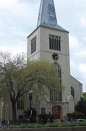 Richard Bond (architect) - Image: First Parish Cambridge MA