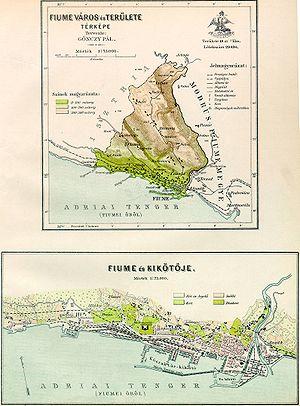 Corpus separatum (Fiume) - Image: Fiume town map