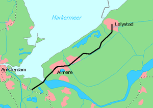 Weesp–Lelystad railway - Image: Flevolijn