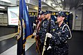 Flickr - Official U.S. Navy Imagery - Members of the honor guard stand at attention during a Patriot's Day observance in the Foc'sle of USS Dwight D. Eisenhower.jpg