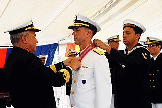 Order of Naval Merit (Brazil) - Vice Adm. John M. Richardson receives the Brazilian Order of Naval Merit