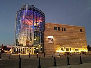 Flint Hills Discovery Center - Image: Flint Hills Discovery Center at night
