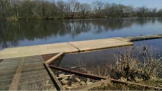 James River Park System - Floating dock on the James River