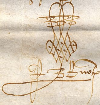 Civil law notary - 1400 French royal notary flourish
