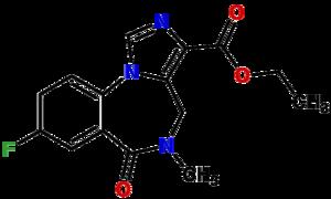 English: Chemical structure of Flumazenil