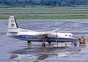 Biman Bangladesh Airlines - Fokker F-27 Friendship of Biman Bangladesh Airlines at the then Dum Dum Airport in 1974.