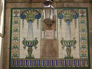 thoroughfare in Barcelona, Spain