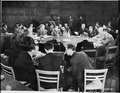 Foreign secretaries attend a meeting at the Cecilienhof Palace during the Potsdam Conference. British foreign... - NARA - 198922.tif