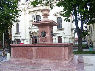 "Sremski Karlovci - Fountain ""Four Lions"" in the Center of Sremski Karlovci"