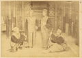 Four Uniformed Soldiers with Their Weapons, China, 1874-75 WDL1900.png