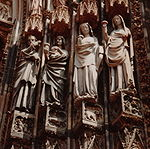 France Strasbourg Cathedral Wise virgins and Christ