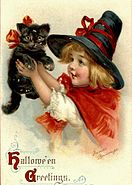 Frances Brundage schwarze Katze