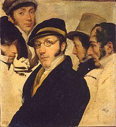 Francesco Hayez: Autoritratto in un gruppo di amici