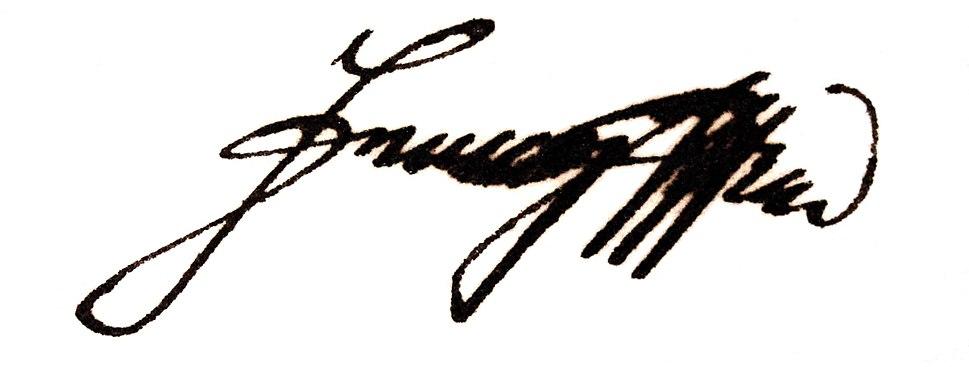 Francis II & I's signature