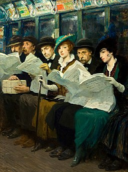 Francis Luis Mora - Subway riders in NYC