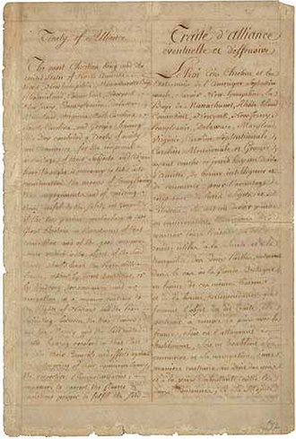 Treaty of Alliance (1778) - Image: Franco American treaty of alliance 6 feb 1778