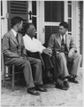 Franklin D. Roosevelt, Rosser Shelton, and William L. Brady in Warm Springs, Georgia - NARA - 196153.tif