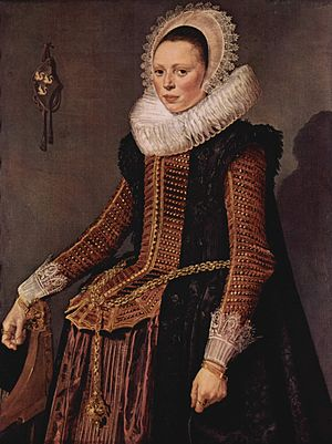 Portrait of a Woman Standing (Kassel) - Portrait of a Woman Standing, c. 1618 – 1620, Oil on panel, 106 x 80.3 cm