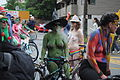 Fremont Solstice Parade 2011 - cyclists prepare 10.jpg