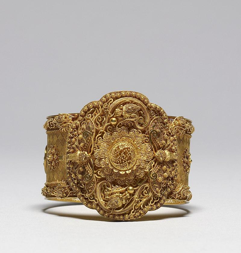 French - Cannetille Ware Bracelet - Walters 572332.jpg