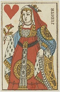 French Portrait card deck - 1813 - Queen of Hearts.jpg