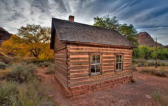 National Register of Historic Places listings in Wayne County, Utah - Image: Fruita School Fall 2