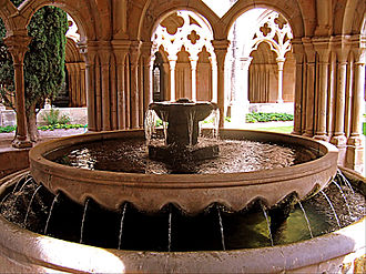 Ablution in Christianity - Lavabo in the Poblet Monastery in Spain.