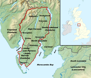 Furness peninsula and region in south Cumbria, England