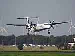 G-ECOA Flybe De Havilland Canada DHC-8-402Q Dash 8, landing on Schiphol (EHAM-AMS) runway 18R pic1.JPG