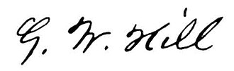 George William Hill - Image: GW Hill signature