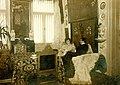 Gabriela Zapolska z mężem Stanisławem Janowskim w Skizie (Krzywczyce k. Lwowa) 1908–1909.jpg